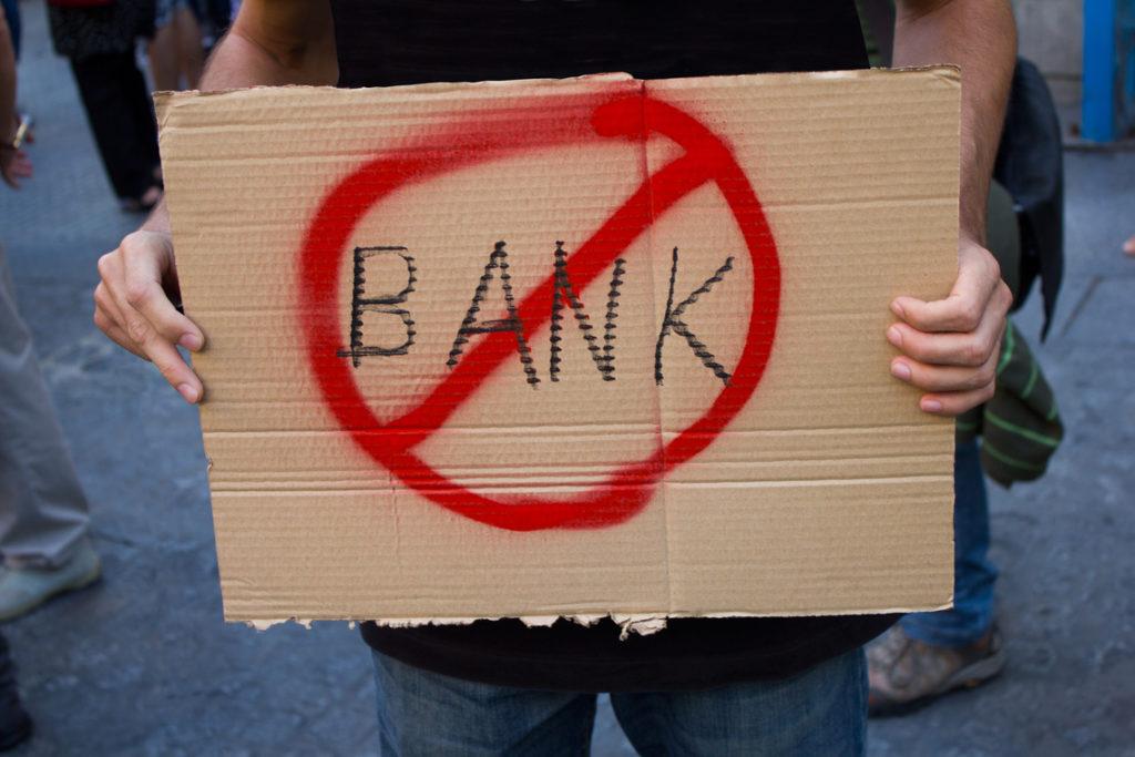 não aos bancos