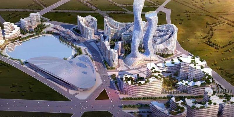 Предполагаемый дизайн Akon Crypto City