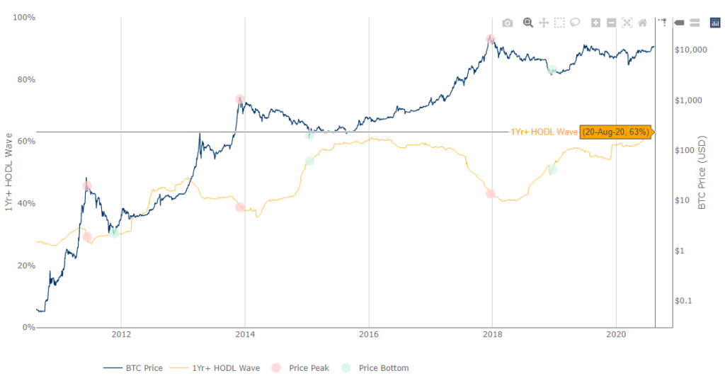 bitcoin hodl wave high