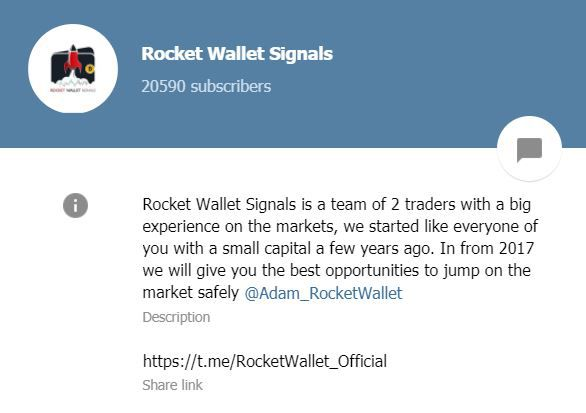 Канал Rocket Wallet Signals