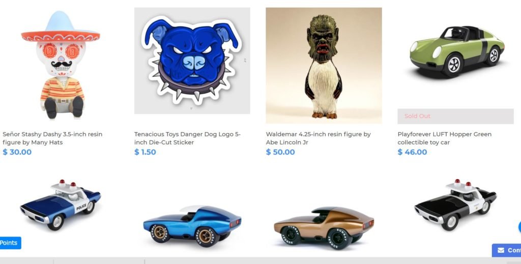 Игрушки за криптовалюту на Tenacious Toys