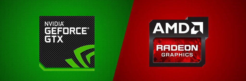 Оформление логотипов Nvidia и AMD