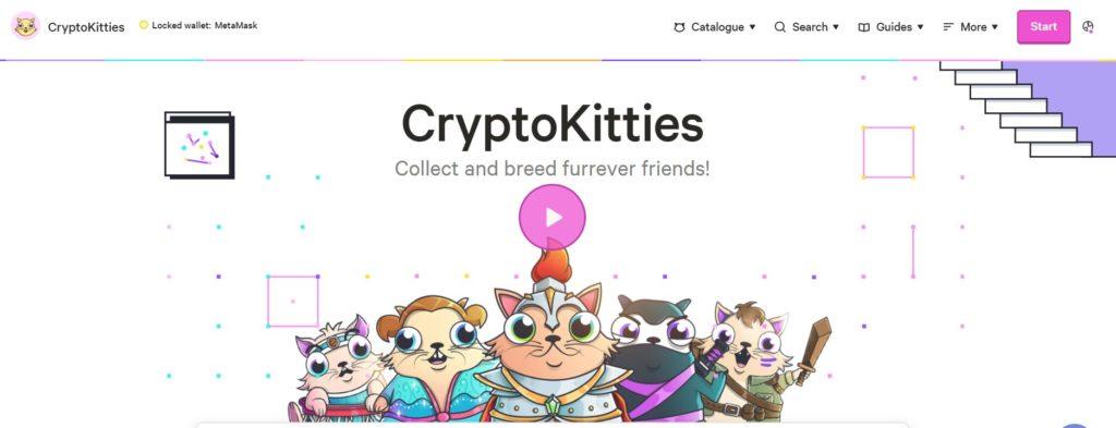 Скрин главной страницы CryptoKitties