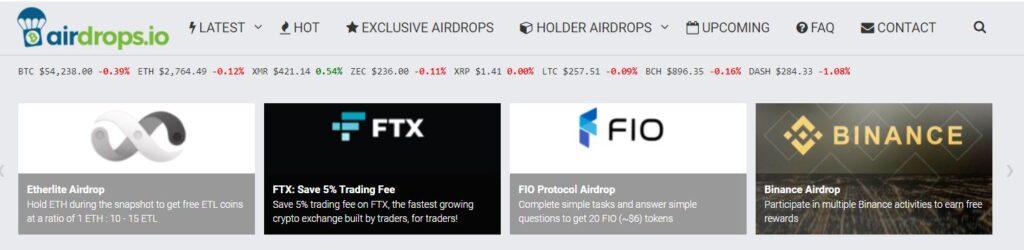 Платформа Airdrops.io