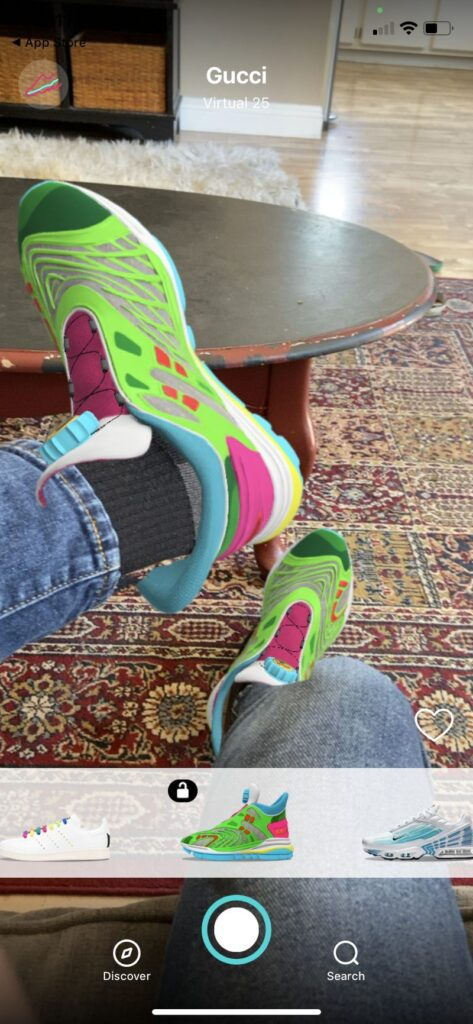 Цифровые кроссовки от Gucci