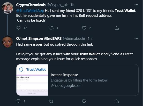 TrustWallet мошенники