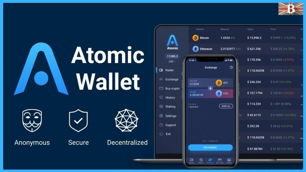 Интерфейс кошелька Atomic Wallet