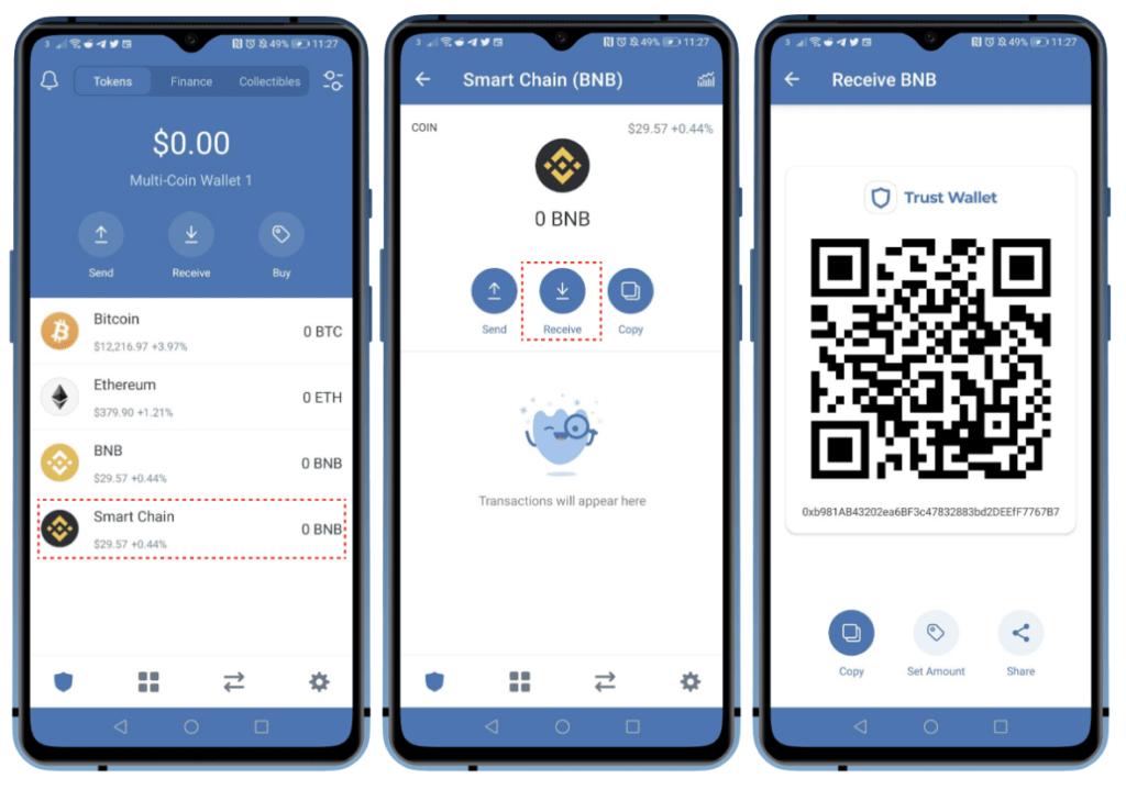 Интерфейс кошелька Trust Wallet
