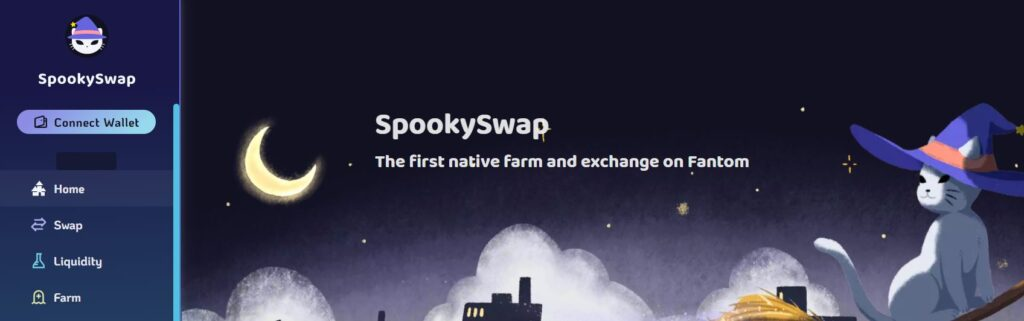 Скрин платформы SpookySwap