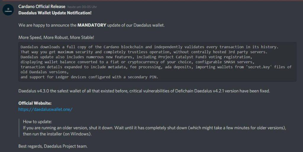 Объявление мошенников на Discord