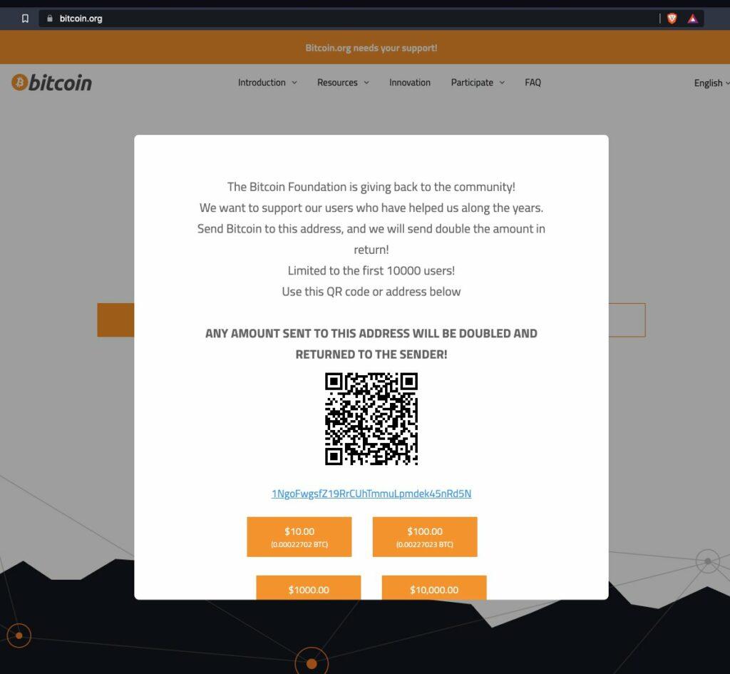 Взлом сайта bitcoin.org