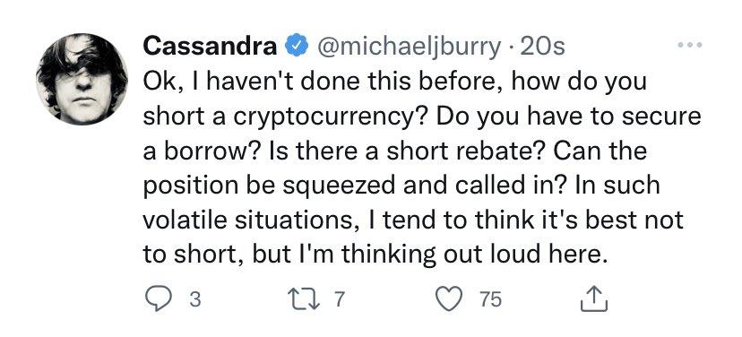 Удаленный твит Майкла Бьюрри